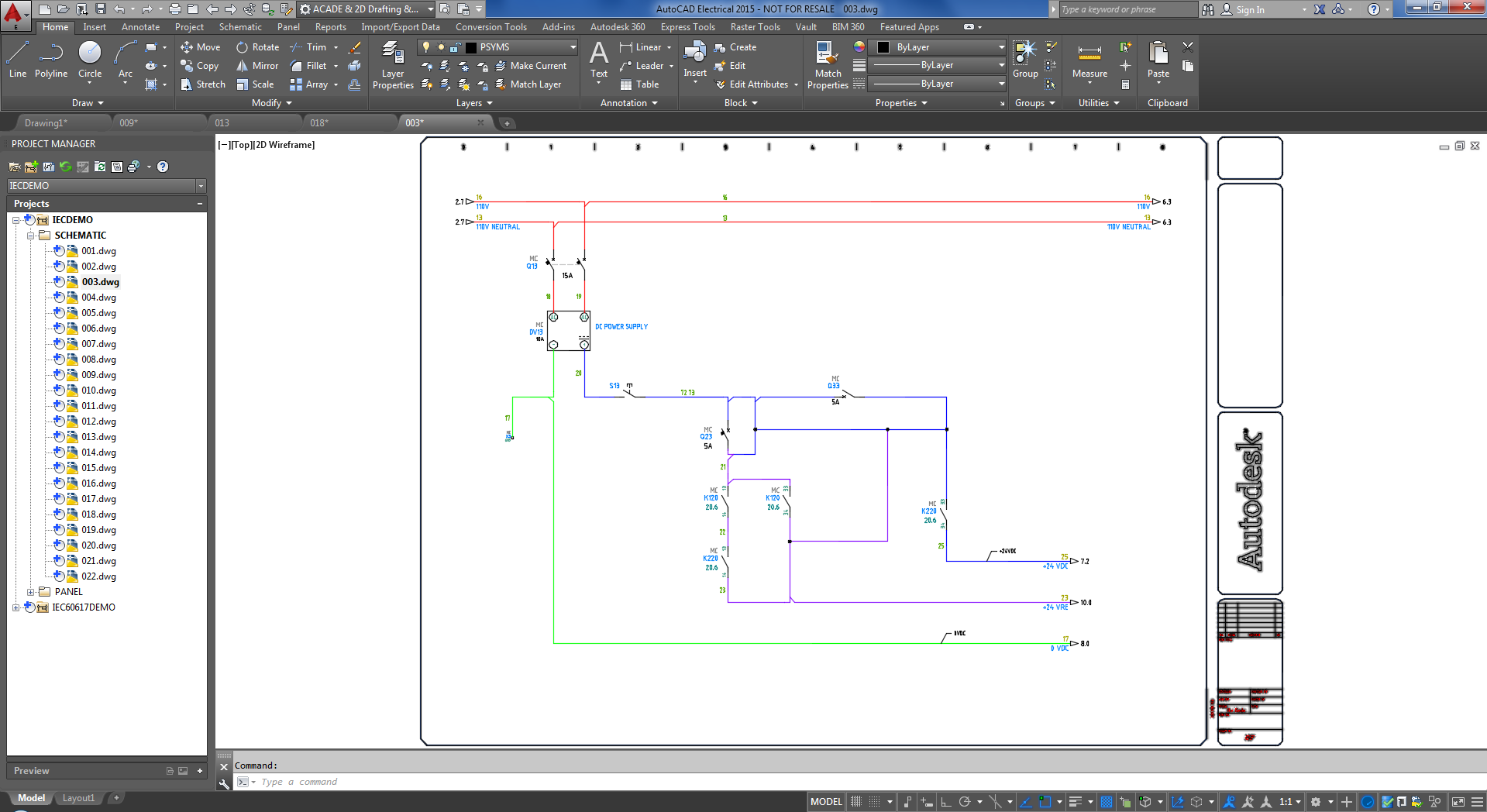 Whats New In Autocad Electrical 2015 User Interaction Schematic E1